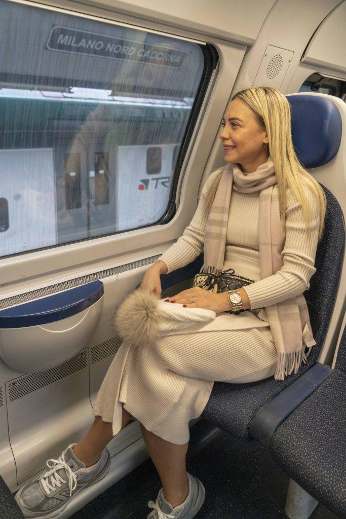 Como Gölü'ne Milano'dan tren ile giderken